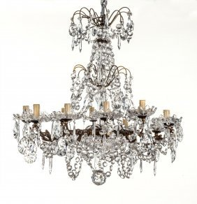 A Fine Ten-branch Crystal Chandelier, French Circa 1950