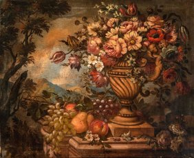 French School, 19th Century Still Life Of Fruit And