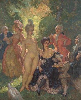 Norman Lindsay (1879-1969) Polite Conversation