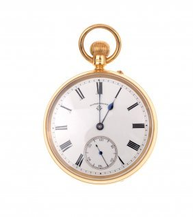 A Gentleman's Gold Openface Pocket Watch, Rotherhams.