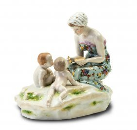 A Bing & Grondahl Figure Of A Girl And A Porcelain