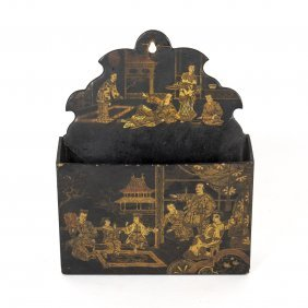 A Small Japanese Lacquer Envelope Pocket, Late