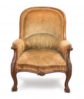 A Victorian Carved Oak Gentleman's Chair