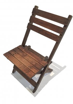 A Victorian Child's Folding Chair