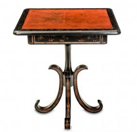A Chinoiserie Style Fleurette Side Table By Rose