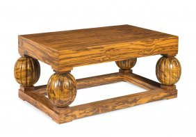 A Substantial Macassar Ebony Coffee Table, 20th Century