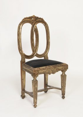 A Venetian Carved Giltwood Side Chair, 18th Century