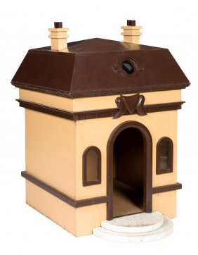 A Dog's Kennel In The Form Of A Georgian House Complete