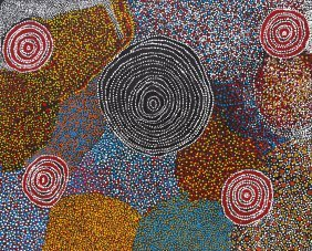Bill Whiskey Tjapaltjarri (circa 1920-2008) Rock Holes