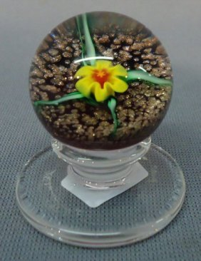 CHARLES KAZIUM MINIATURE BLOWN GLASS PAPERWEIGHT