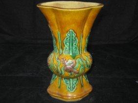 19th Century Chinese Sancai Vase