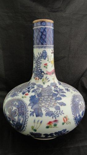 Large 19th Century Chinese Export Fitzhugh Vase