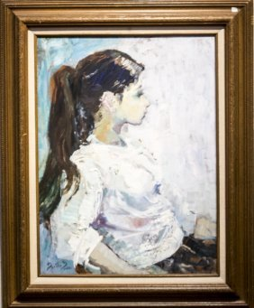 "Martha Moore , "" Portrait Of A Girl"""