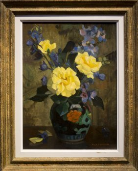 "Marguerite S. Pearson , "" Vase Of Flowers On Table"