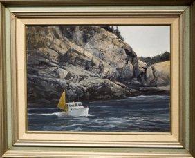 "Don Stone , "" Lobstering, Monhegan Island"""