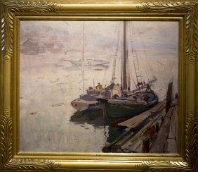 "Emile Gruppe , "" Lifting Fog, Gloucester"""
