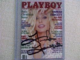 Farrah Fawcett Signed Playboy Collectors Card