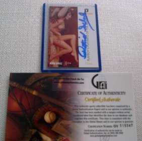 Playmate Astrid Schulz Signed Playboy Trading Card