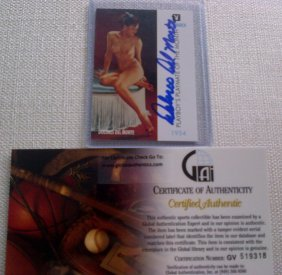 Playmate Delores Del Monte Signed Playboy Trading C