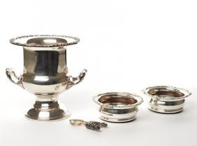Collection Of Plated Drinks Accessories