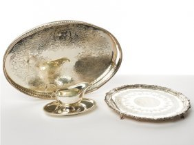 Oval Plated Drinks Galley Tray