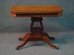 NY Classically Carved Mahogany Game Table