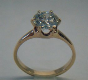 14K Yellow Gold Diamond Solitaire, Approximately 1.