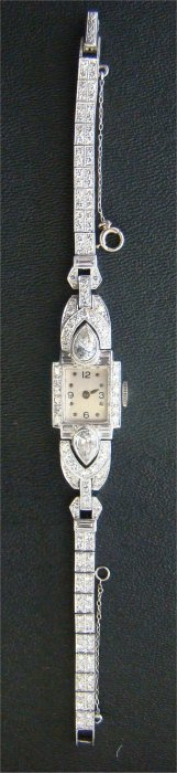 Ladies Diamond & Platinum Wristwatch