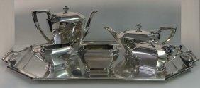 Gorham Sterling Fairfax Pattern Tea & Coffee Set