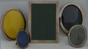 5 Sterling Silver Picture Frames