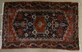 Persian Scatter Rug Semi Antique