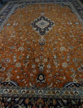 "Indo Kashan Roomsize Carpet 15'2"" X 10'"