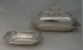 Gorham Sterl. Silver Fairfax Pattern Cov. Veg Dish