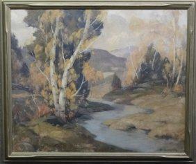"""O/c """"woodstock Autumn Scene"""" Sgnd Cecil Chichester"""