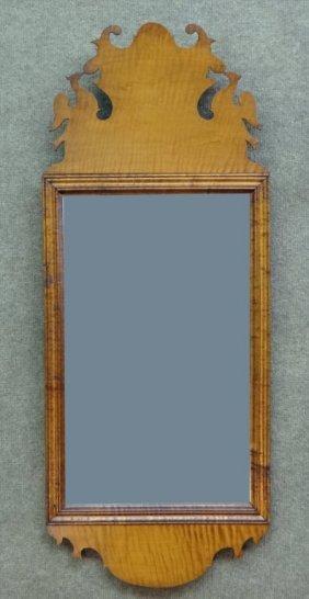 American Tiger Maple Qa Cut Frame Mirror
