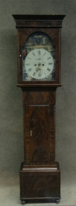 Scottish Tall Case Clock W/ Hand Painted