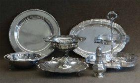 7 Pcs. Silver Plate: Tiffany Tray,sugar Castor,