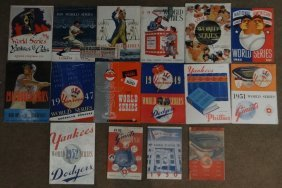 World Series Programs 1938 - 1952 Yankees, Dodger