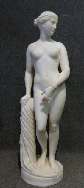 "36"" Marble Statue ""greek Slave"" Sgnd F. Vichi"