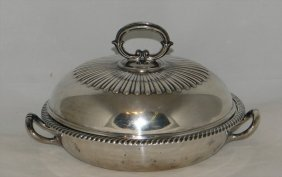 English Sterling Silver Warming Dish