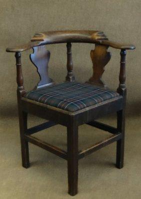 Georgian Corner Chair W/ Vase Splats
