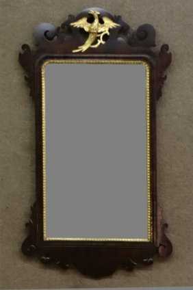 Cut Frame 18thc. Phoenix Bird Chippendale Mirror