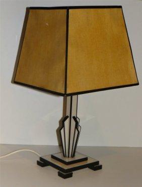 "Bakelite Deco Table Lamp 13 1/8"" Tall"
