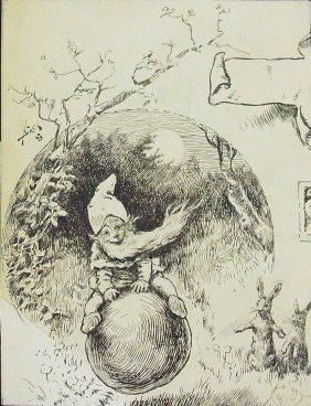 Reginald Bathurst Birch Nymph Gnome Elf With Rabbit