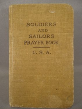 Vintage Us Soldiers And Sailors Prayer Book 1917 Lot 175