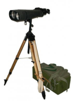 Large Military Binoculars With Tripod Stands And Lot 2070