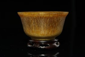 19th C Chinese Carved Horn Bowl