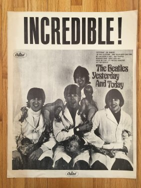 Beatles Butcher Cover Yesterday And Today Promo Poster