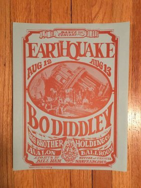 Earthquake - Bo Diddley Handbill - Fd021