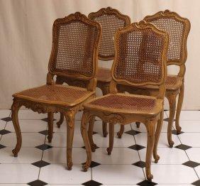 Vier Barockstühle, Norddeutsch, Um 1750